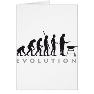 evolution barbecue greeting card