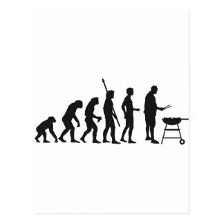 evolution barbecue postcard