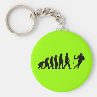 Evolution Basic Round Button Key Ring