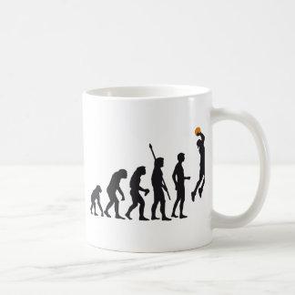 evolution basketball basic white mug