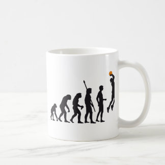 evolution basketball coffee mug