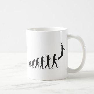 Evolution - Basketball Jump Basic White Mug