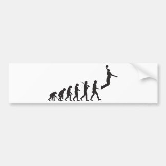 Evolution - Basketball Jump Bumper Sticker