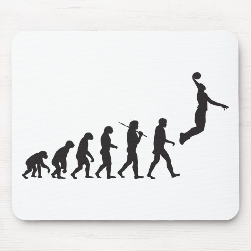 Evolution - Basketball Jump Mouse Pad