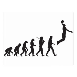 Evolution - Basketball Jump Postcard