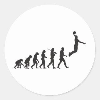 Evolution - Basketball Jump Round Sticker