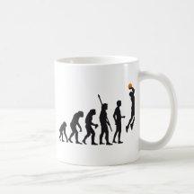 evolution basketball kaffee tassen