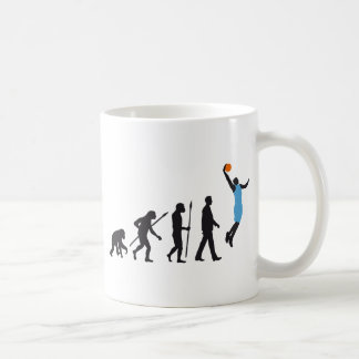evolution basketball more player coffee mug