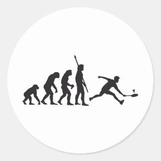 evolution bath min tone round sticker