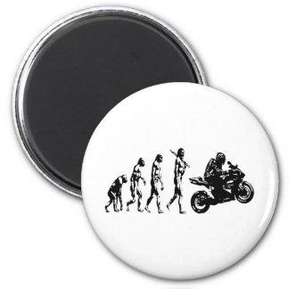 evolution bike 6 cm round magnet