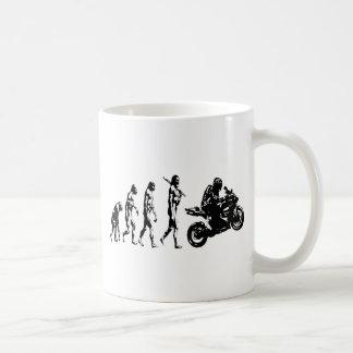evolution bike basic white mug