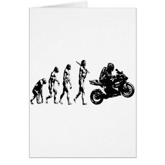 evolution bike greeting card