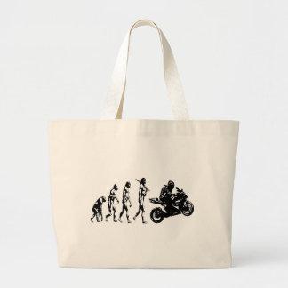 evolution bike jumbo tote bag