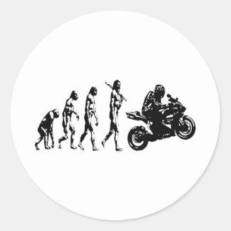 evolution bike round stickers