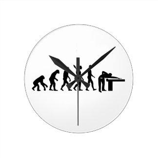 Evolution Billiards Wall Clock