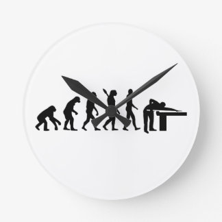 Evolution Billiards Round Clock