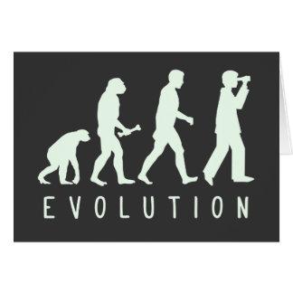 Evolution: Birder Greeting Card