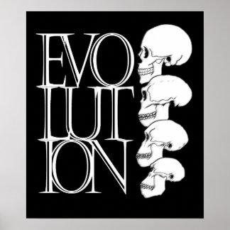 Evolution (black, with white border) poster