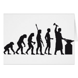 evolution blacksmith greeting card