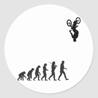 Evolution - BMX Bike Flip Classic Round Sticker