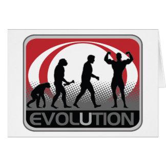 Evolution BodyBuilder Greeting Card