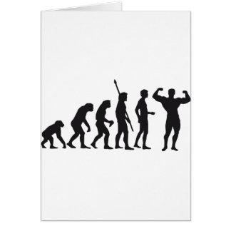 evolution bodybuilding greeting card