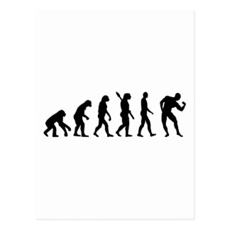 Evolution Bodybuilding muscles Postcard