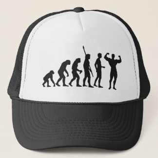 evolution bodybuilding trucker hat