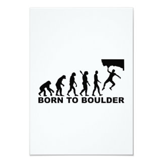 Evolution Born to Boulder 9 Cm X 13 Cm Invitation Card