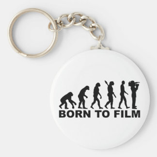 Evolution Born to film Basic Round Button Key Ring