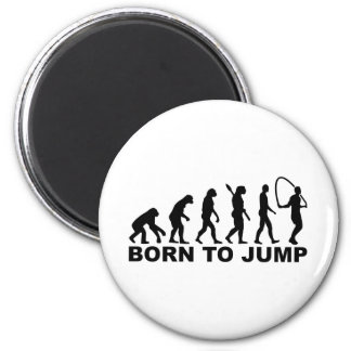 Evolution born to Jump rope 6 Cm Round Magnet
