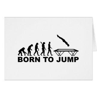 Evolution born to jump trampoline greeting card