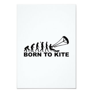 Evolution born to kite 9 cm x 13 cm invitation card
