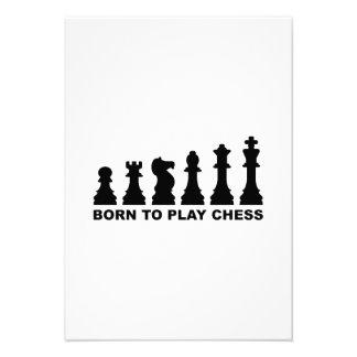 Evolution born to play chess custom invitations
