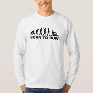 Evolution born to row tshirt