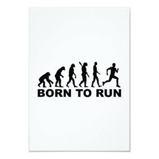 """Evolution Born to run 3.5"""" X 5"""" Invitation Card"""