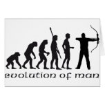 evolution bow and arrow greeting card