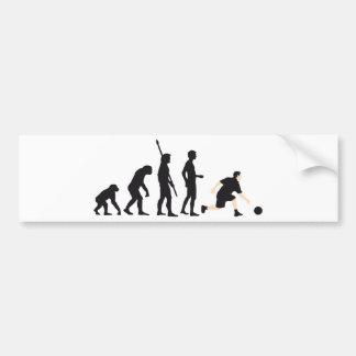 evolution bowling bumper sticker