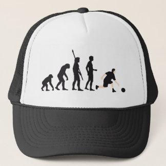 evolution bowling trucker hat