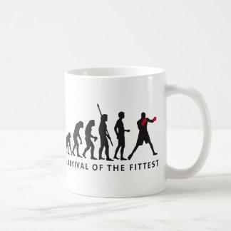evolution boxing basic white mug