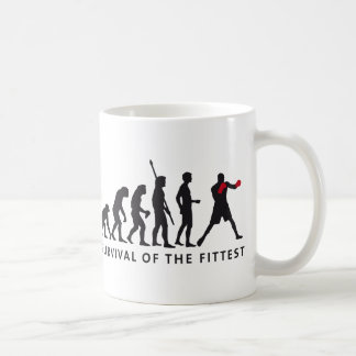 evolution boxing coffee mug