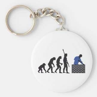 Evolution bricklayer A 2C Basic Round Button Key Ring