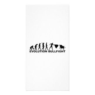 Evolution bullfight picture card