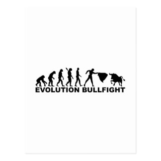 Evolution bullfight postcard