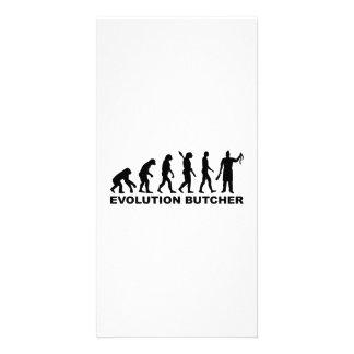 Evolution butcher personalized photo card