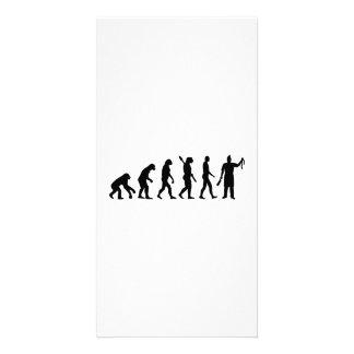 Evolution butcher picture card