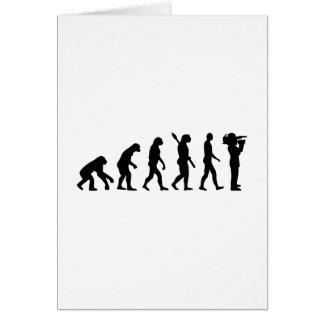 Evolution cameraman card