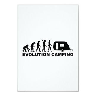 Evolution camping caravan invitations