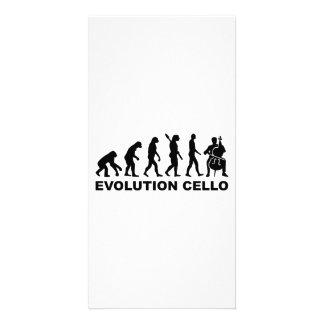 Evolution Cello Custom Photo Card