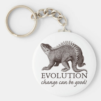 Evolution change can be good! basic round button key ring